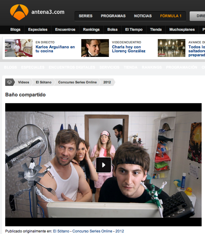 baño compartido en la web de Antena3